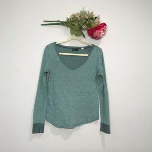 BDG | Knitted Long Sleeve V Neck Tee Size M